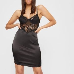Black Lace Mini Dress Size XL